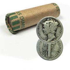 $5 Face Value - 90% Silver Mercury Dimes