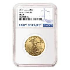 2019 1/2 oz NGC MS-70 Early Releases Gold American Eagle