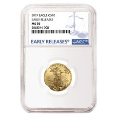 2019 1/4 oz NGC MS-70 Early Releases Gold American Eagle