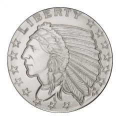 1/4 oz Silver Rounds | Incuse Indian