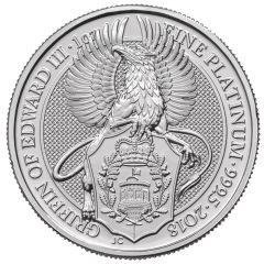 2018 1 oz Queen's Beast Griffin of Edward Platinum Coin