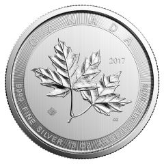 2017 10 oz Canadian Silver Magnificent Maple Leaves Coin BU