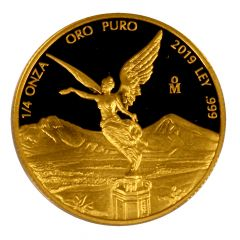 2019 1/4 oz Mexican Gold Libertad Coin (Proof)