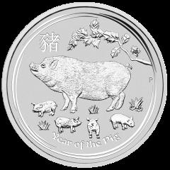 2019 Australian Lunar Year of the Pig Silver Coin 5 oz