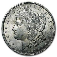 1921 Morgan Silver Dollars - AU
