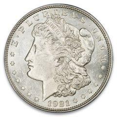 1921 Morgan Silver Dollars - BU