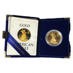 1986-W Proof American Gold Eagle 1 oz - Includes Original Mint Box and COA