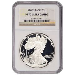 1987-S NGC PF-70 Proof American Silver Eagle Coin