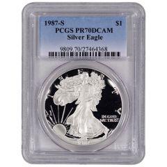 1987-S PCGS PR-70 American Silver Eagle Proof Coin