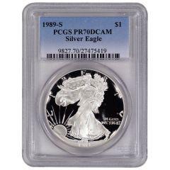 1989-S PCGS PR-70 American Silver Eagle Proof Coin