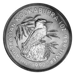 1990 1 oz Australian Kookaburra Silver Coin