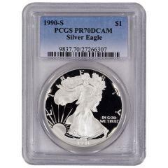 1990-S PCGS PR-70 American Silver Eagle Proof Coin