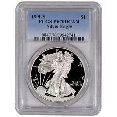 1991-S PCGS PR-70 American Silver Eagle Proof Coin