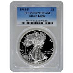 1994-P PCGS PR-70 American Silver Eagle Proof Coin