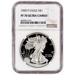 1995-P NGC PF-70 Proof American Silver Eagle Coin