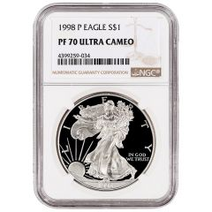 1998-P NGC PF-70 Proof American Silver Eagle Coin