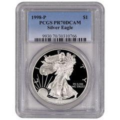 1998-P PCGS PR-70 American Silver Eagle Proof Coin