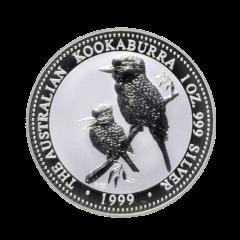 1999 1 oz Australian Kookaburra Silver Coin