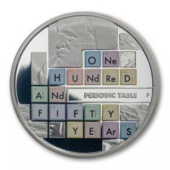 2019 Tuvalu 1 oz Periodic Table Silver Proof Coin