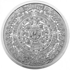 2 oz Aztec Calendar Silver Round