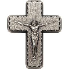 2 oz Lord's Prayer Silver Crucifix Cross