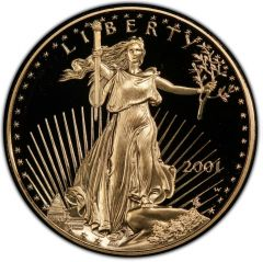 2001 1 oz American Gold Eagle Proof Coin