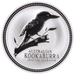 2003 1 oz Australian Kookaburra Silver Coin