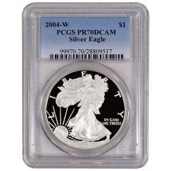 2004-W PCGS PR-70 American Silver Eagle Proof Coin