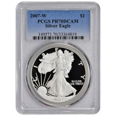 2007-W PCGS PR-70 American Silver Eagle Proof Coin