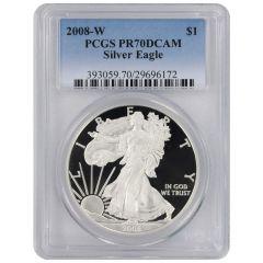 2008-W PCGS PR-70 American Silver Eagle Proof Coin
