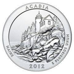 2012 Silver 5 oz Acadia America The Beautiful