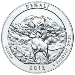 2012 Silver 5 oz Denali America The Beautiful