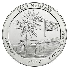 2013 Silver 5 oz Fort McHenry America The Beautiful