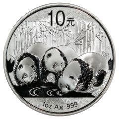 2013 1 oz Chinese Silver Panda BU (In Capsule)