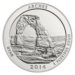 2014 Silver 5 oz ATB Arches National Park America The Beautiful