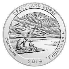 2014 Silver 5 oz ATB Great Sand Dunes America The Beautiful