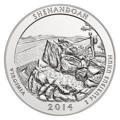 2014 Silver 5 oz ATB Shenandoah America The Beautiful