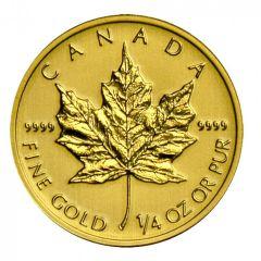 2014 Canadian Gold Maple Leaf - .9999 Fine Gold - 1/4 oz