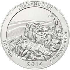 2014 Shenandoah 5 oz Burnished Silver Coin - America The Beautiful