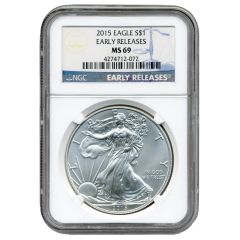 2015 NGC Early Releases MS-69 American Silver Eagle Coin
