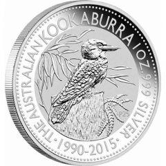 2015 1 oz Australian Kookaburra Silver Coin - 25th Anniversary Limited Edition