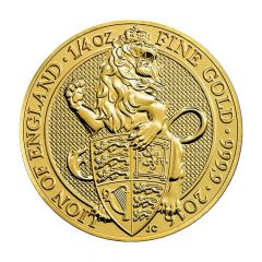 2016 1/4 oz Queen's Beasts Gold Coin - The Lion - Royal British Mint