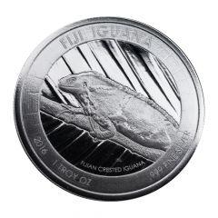2016 Fiji Iguana Silver Coin 1 oz