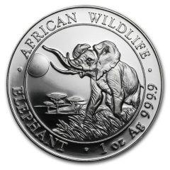 2016 Somalian Elephant 1 oz Silver Coin