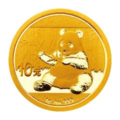 2017 1 Gram Chinese Gold Panda Coin BU