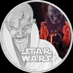 2017 Star Wars The Last Jedi Supreme Emperor Snoke 1 oz Silver Proof Coin