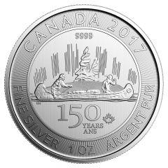 2017 Royal Canadian Mint Voyageur 1 oz Silver Coin BU