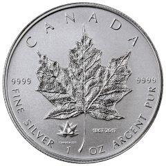 2017 Canadian Silver Maple Leaf Coin BU - 150th Anniversary Privy