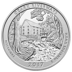 2017 Ozark Riverways ATB 5 oz Silver Coin - America The Beautiful