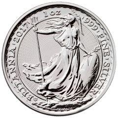 2017 1 oz Silver Britannia Coin BU - 20th Anniversary Privy
